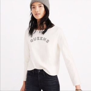 MADEWELL Queens Ivory Graphic Long Sleeve Top